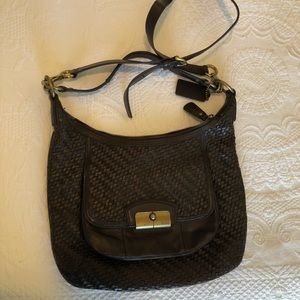 Authentic Chocolate Brown Leather Coach Purse